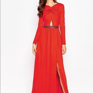 New ASOS Tall Cut Out Dress with Embellished Waist